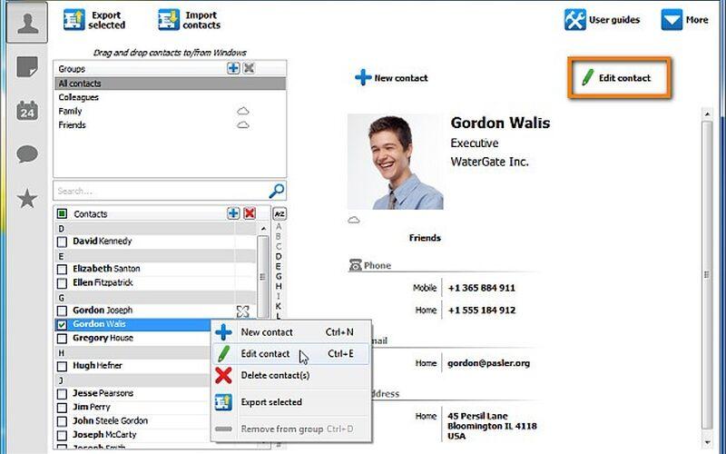 Скриншот 1 программы CopyTrans Contacts