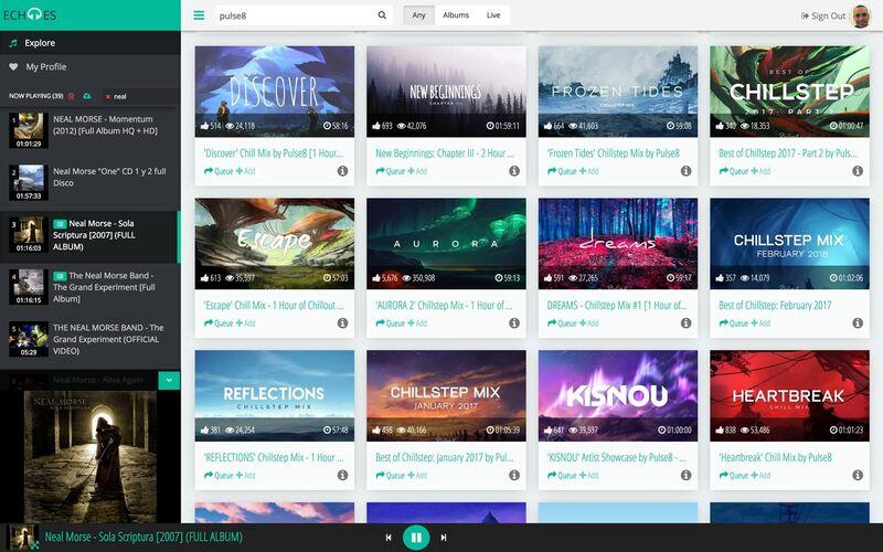 Скриншот 1 программы Echoes Player