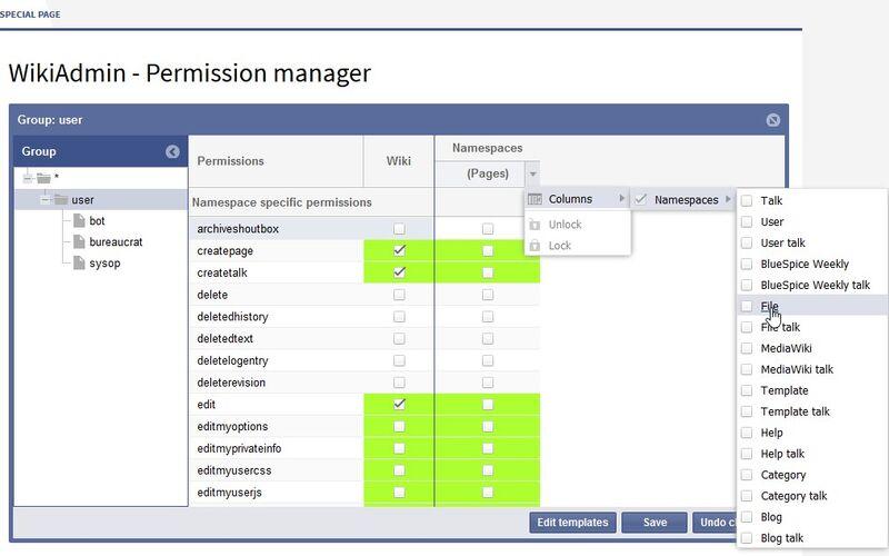 Скриншот 1 программы BlueSpice for MediaWiki