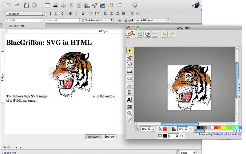 Скриншот 1 программы BlueGriffon