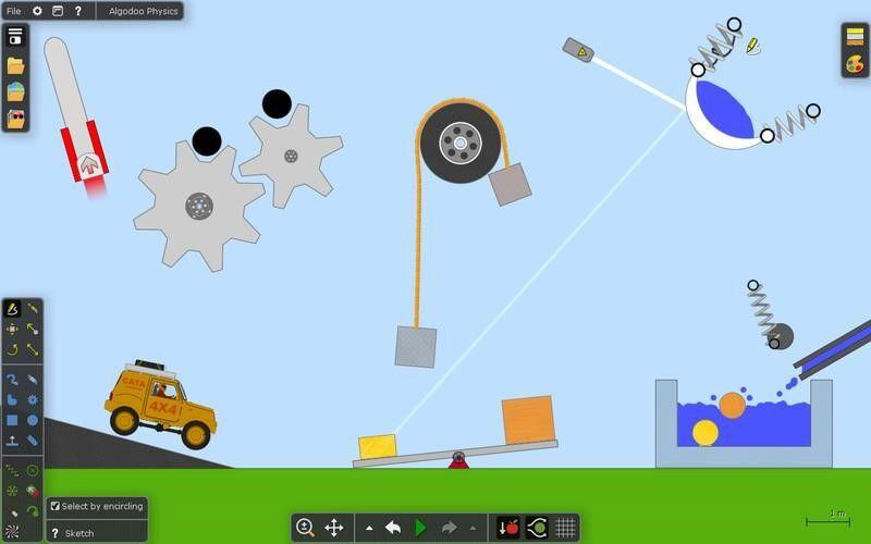 Скриншот 1 программы Algodoo