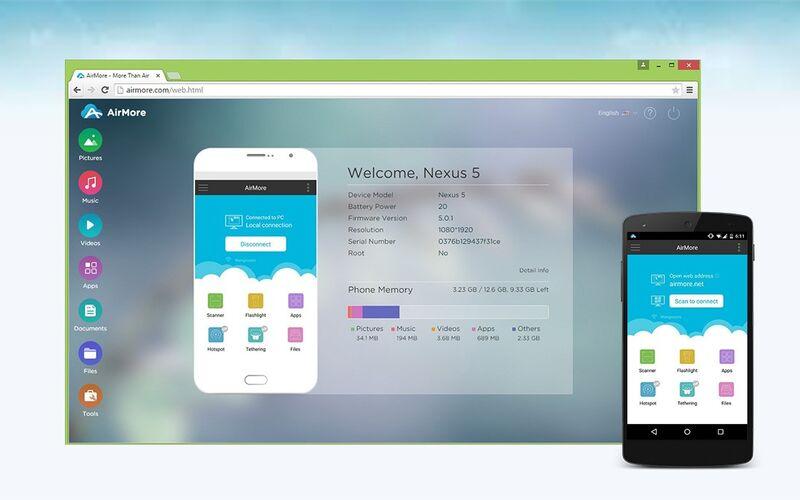 Скриншот 1 программы AirMore