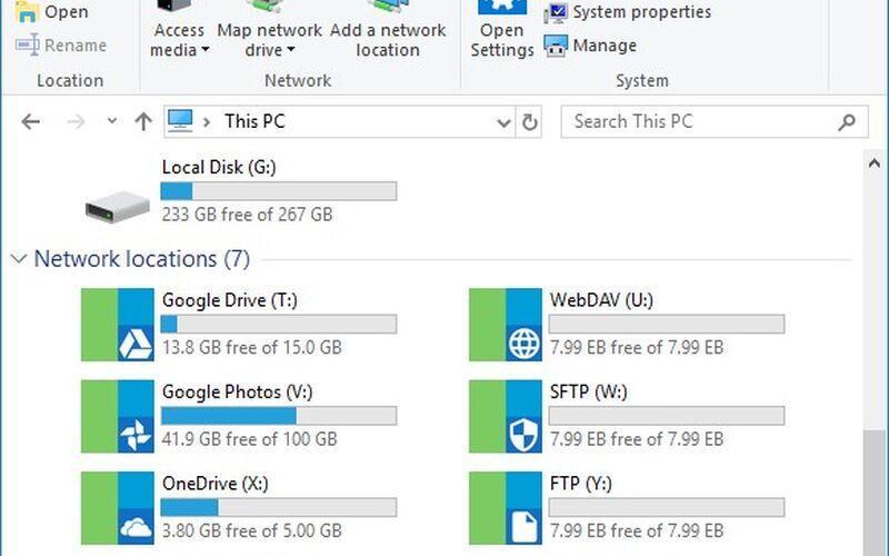 Скриншот 1 программы RaiDrive