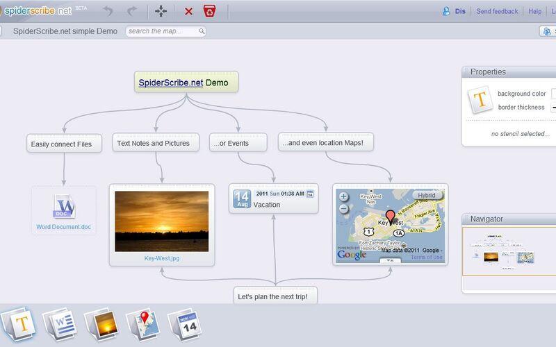 Скриншот 1 программы SpiderScribe.net