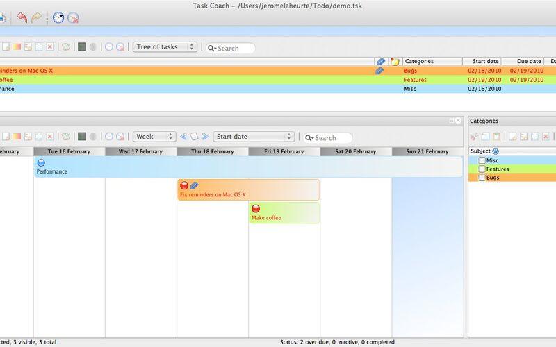 Скриншот 1 программы Task Coach