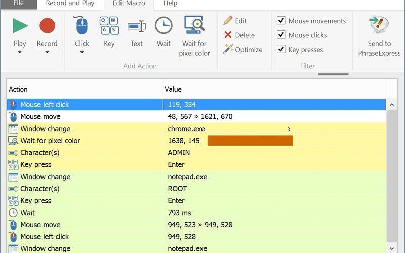 Скриншот 1 программы Mouse Recorder Premium