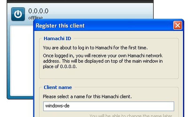 Скриншот 1 программы LogMeIn Hamachi