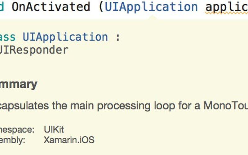 Скриншот 1 программы Xamarin Studio