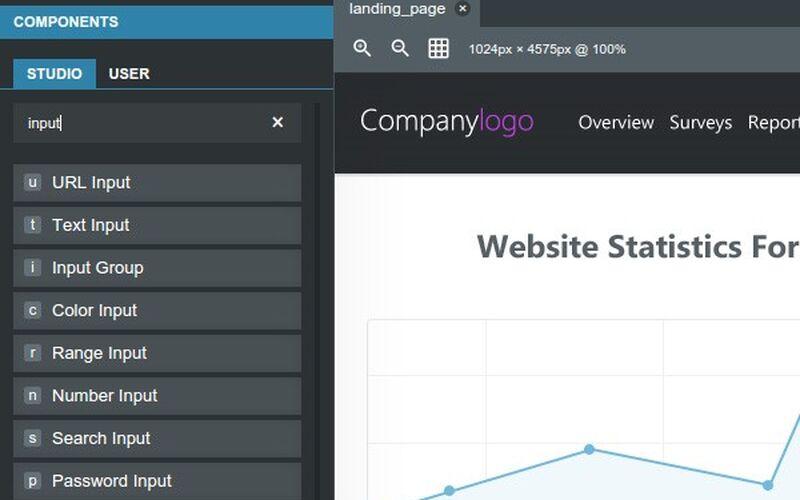 Скриншот 1 программы Bootstrap Studio