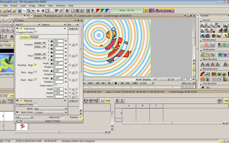 Скриншот 1 программы TVPaint Animation