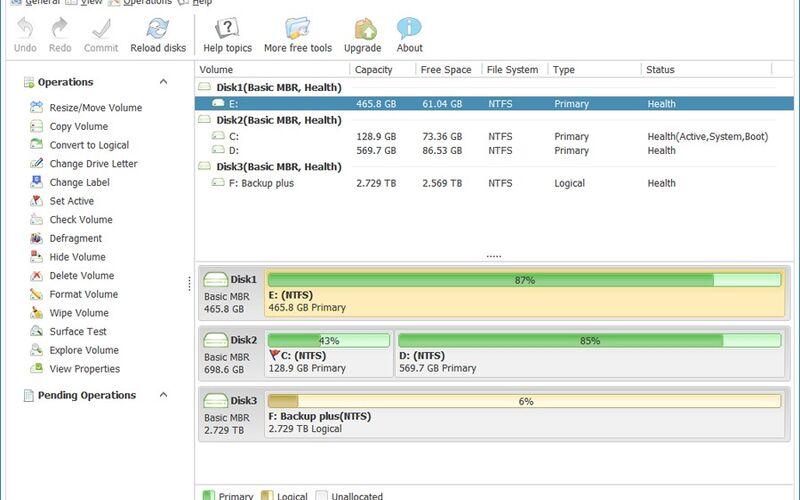 Скриншот 1 программы Macrorit Disk Partition Expert