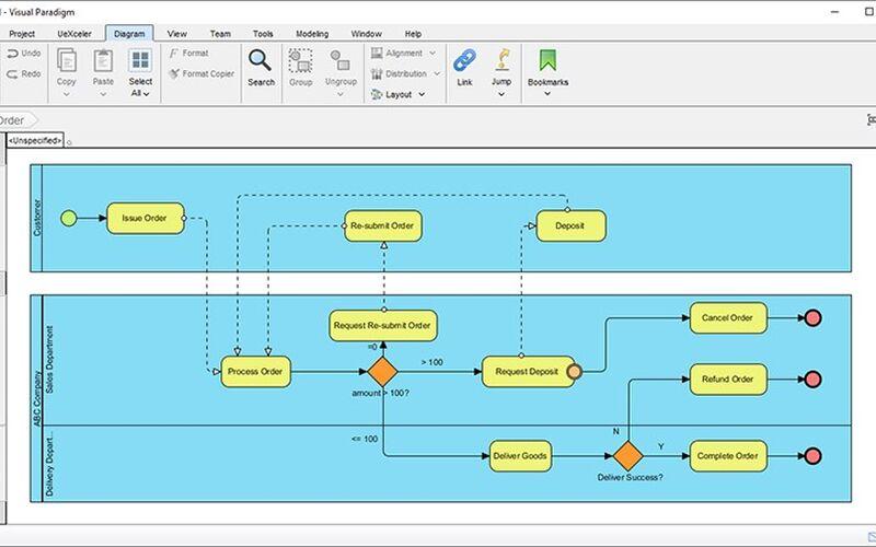 Скриншот 1 программы Visual Paradigm