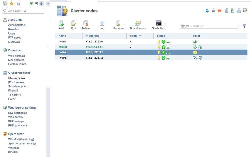 Скриншот 1 программы ISPmanager