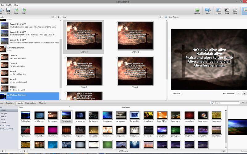 Скриншот 1 программы EasyWorship