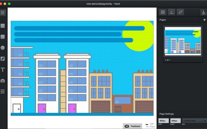 Скриншот 1 программы Vectr