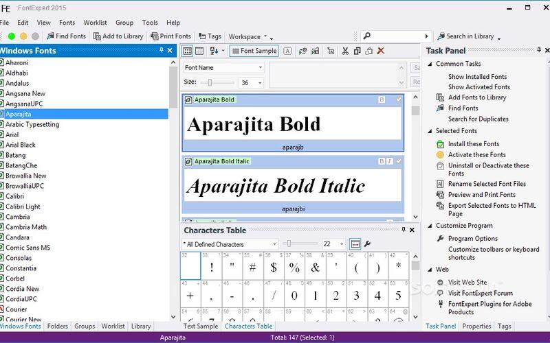 Скриншот 1 программы FontExpert