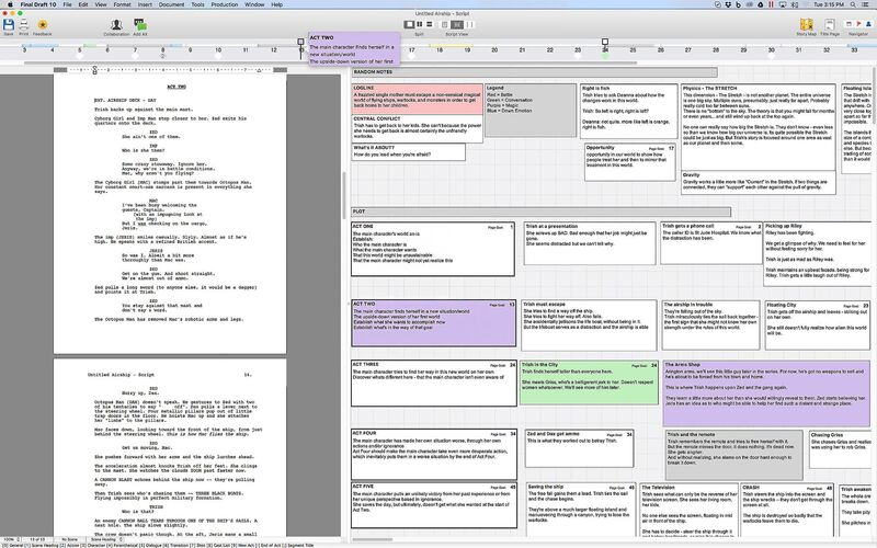 Скриншот 1 программы Final Draft
