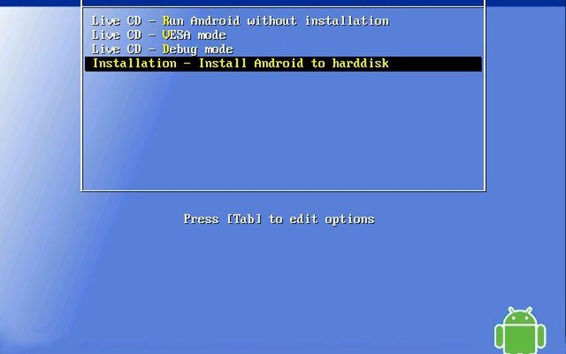 Скриншот 1 программы Android-x86