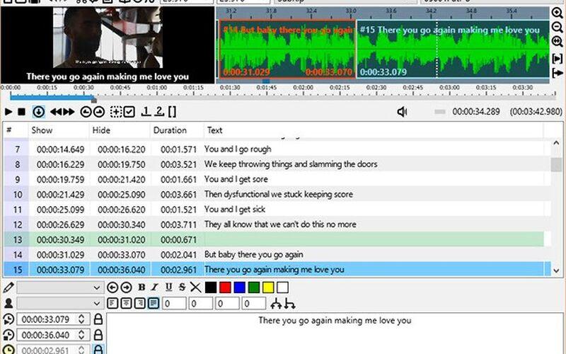 Скриншот 1 программы Subtitle Workshop XE