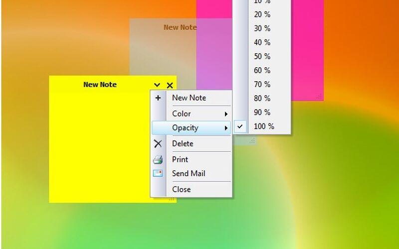 Скриншот 1 программы Simple Sticky Notes