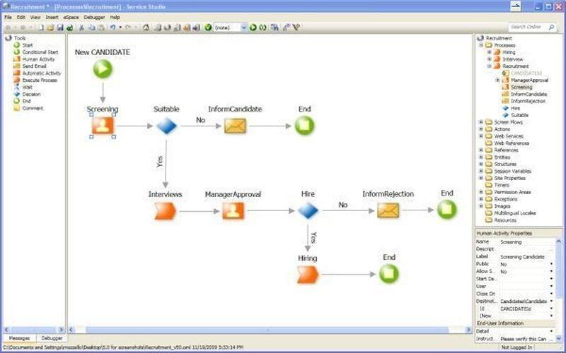 Скриншот 1 программы OutSystems Platform