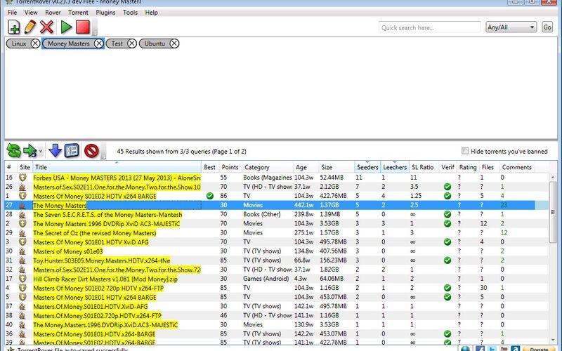 Скриншот 1 программы TorrentRover