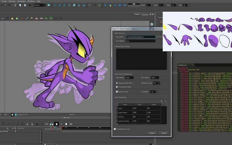 Скриншот 1 программы Toon Boom Harmony