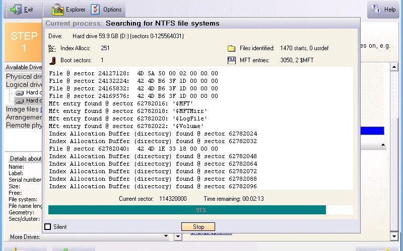 Скриншот 1 программы GetDataBack