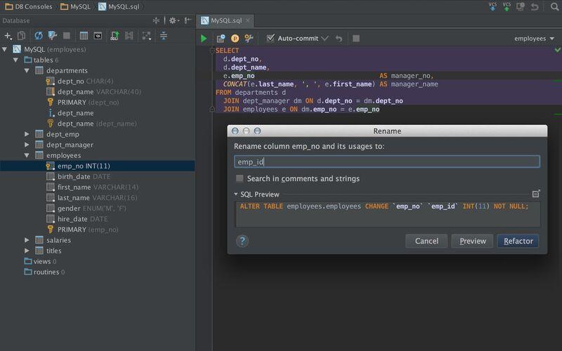Скриншот 1 программы DataGrip