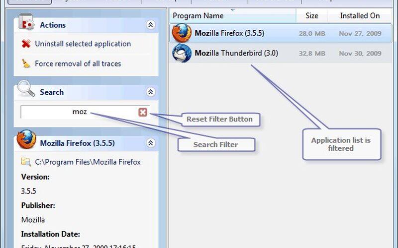 Скриншот 1 программы Uninstall Tool