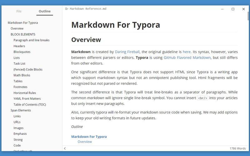 Скриншот 1 программы Typora