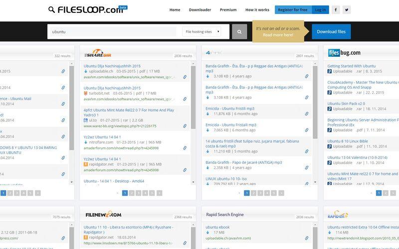 Скриншот 1 программы FilesLoop.com