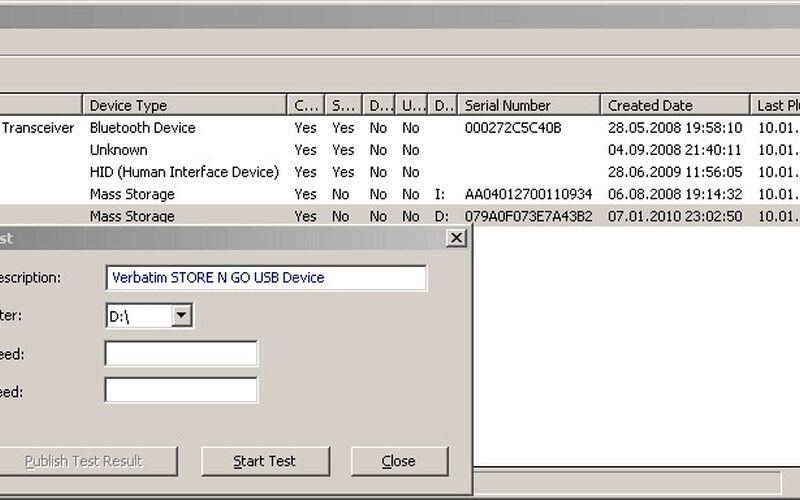 Скриншот 1 программы USBDeview
