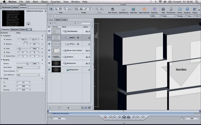 Скриншот 1 программы Apple Motion