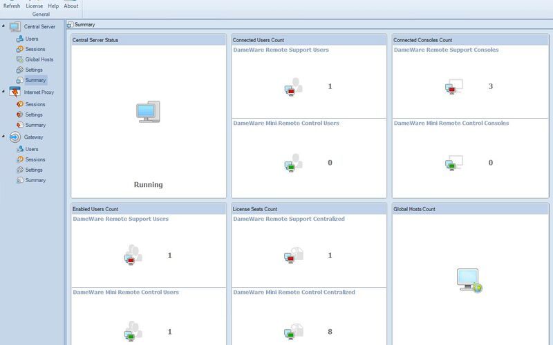Скриншот 1 программы DameWare