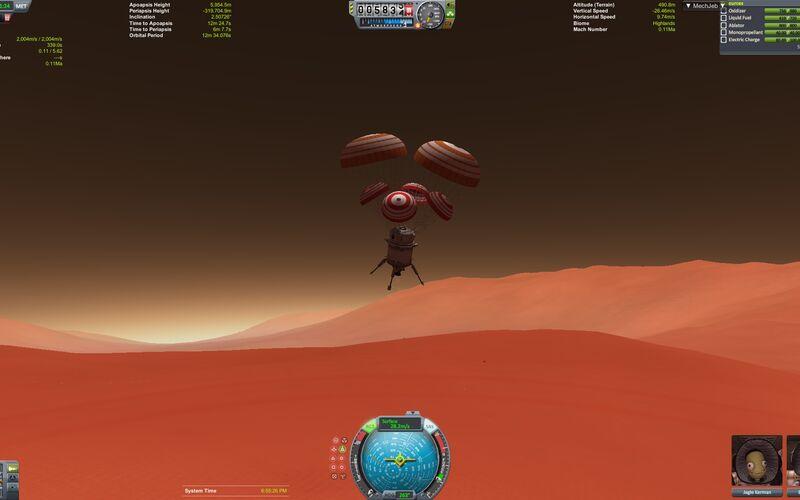 Скриншот 1 программы Kerbal Space Program