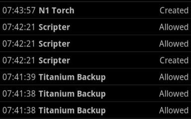 Скриншот 1 программы Superuser - ChainsDD