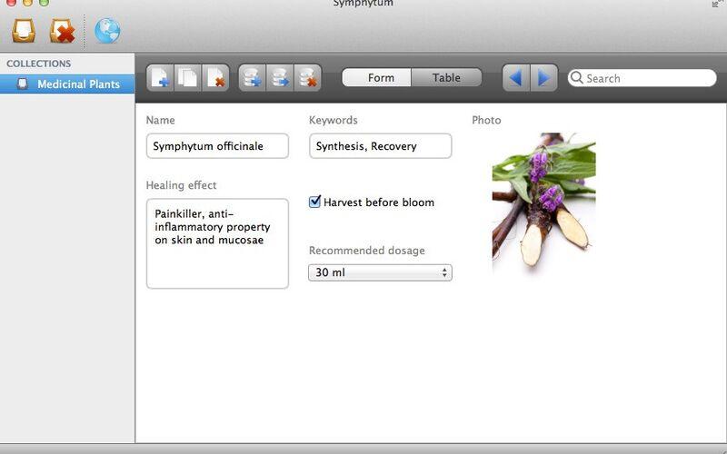 Скриншот 1 программы Symphytum