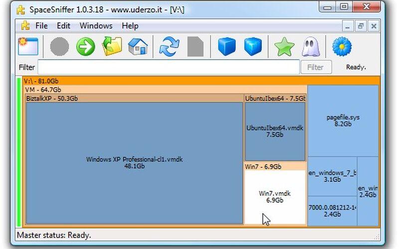 Скриншот 1 программы SpaceSniffer