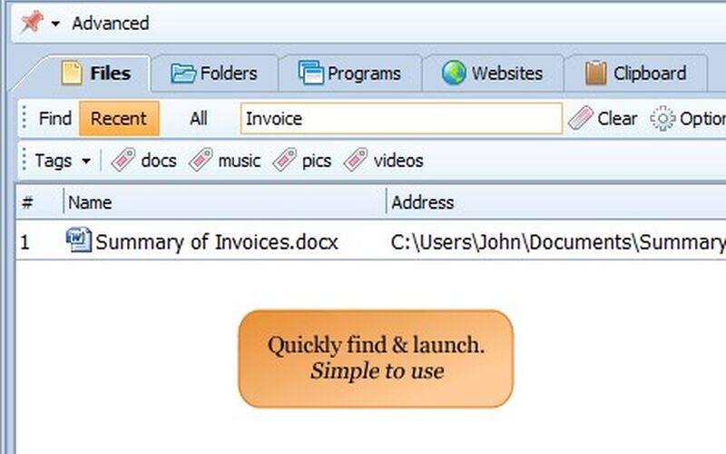 Скриншот 1 программы RecentX