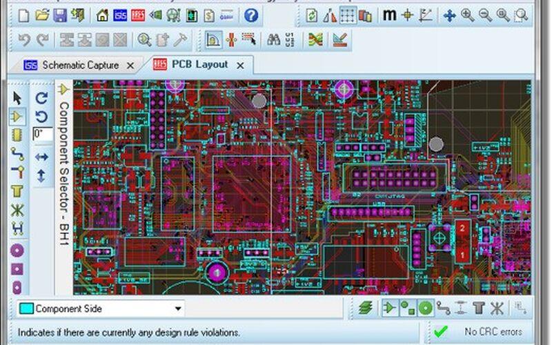 Скриншот 1 программы Proteus PCB design