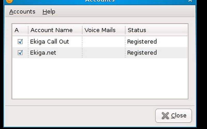 Скриншот 1 программы Ekiga
