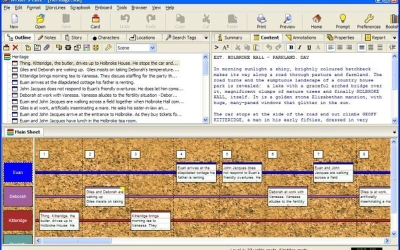Скриншот 1 программы Writer's Cafè