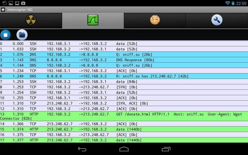 Скриншот 1 программы Intercepter-NG
