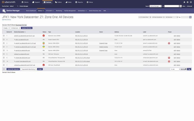 Скриншот 1 программы Ubersmith