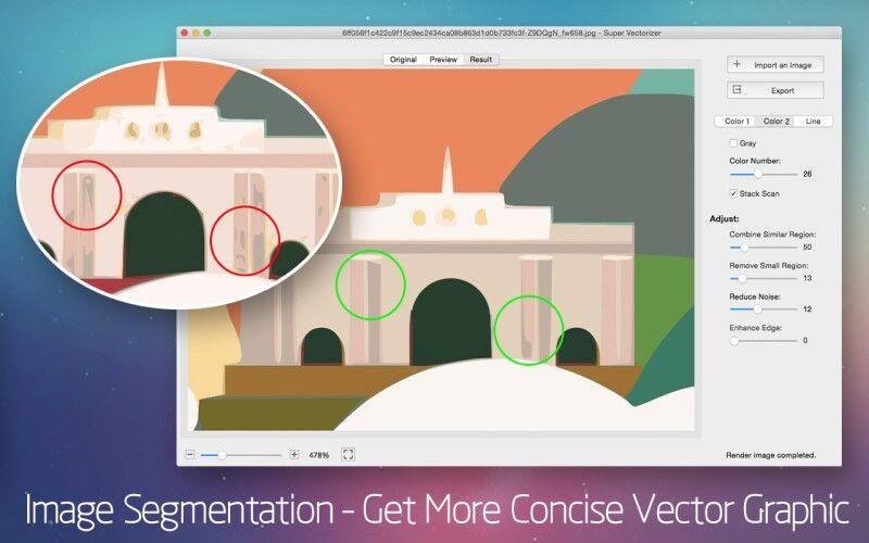 Скриншот 1 программы Super Vectorizer