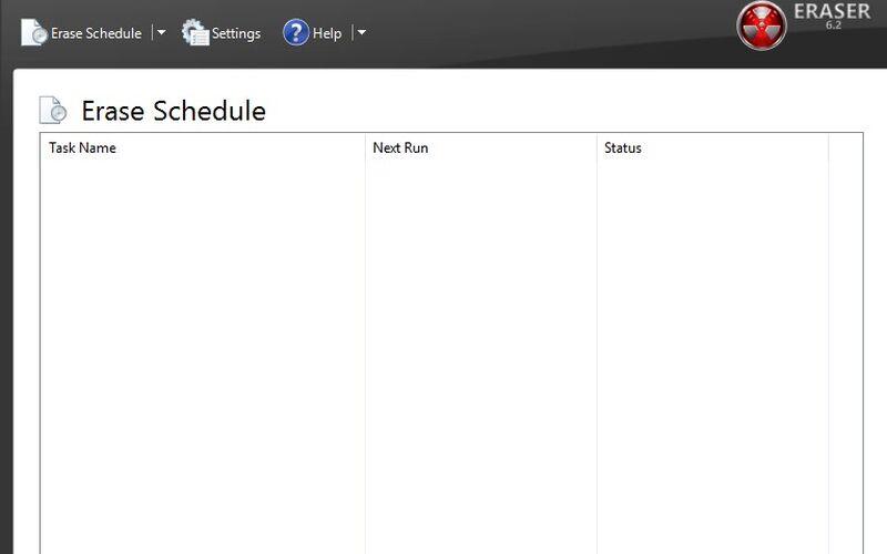 Скриншот 1 программы Eraser