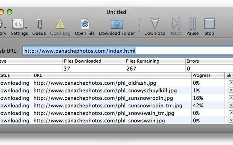 Скриншот 1 программы SiteSucker