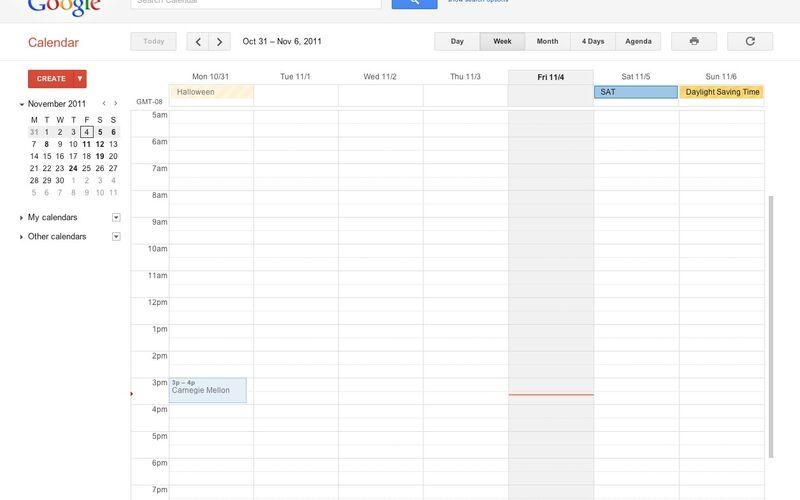 Скриншот 1 программы Google Calendar