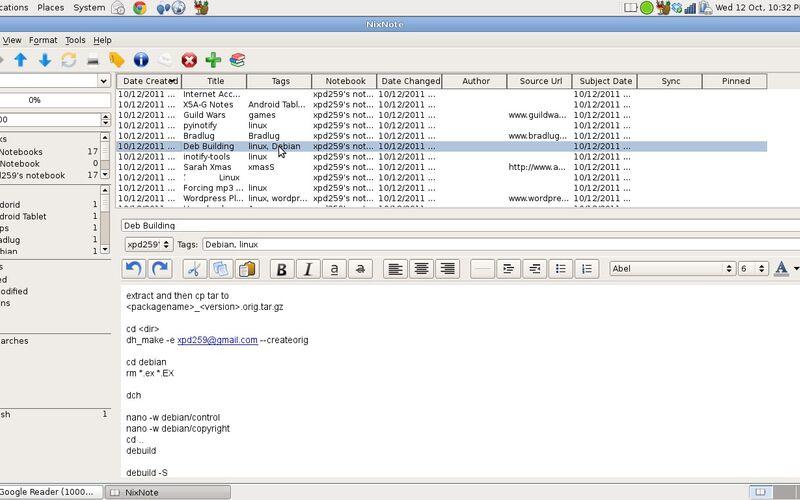 Скриншот 1 программы NixNote